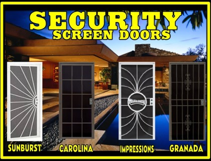 Security Screen Door, Double Security Door, Screen Door, Patio Door,  Swinging Door, Steel Security Door