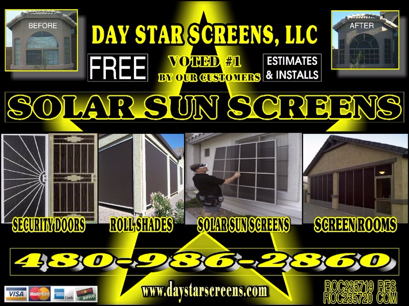 Sun Control Security Products by Day Star Screens Home