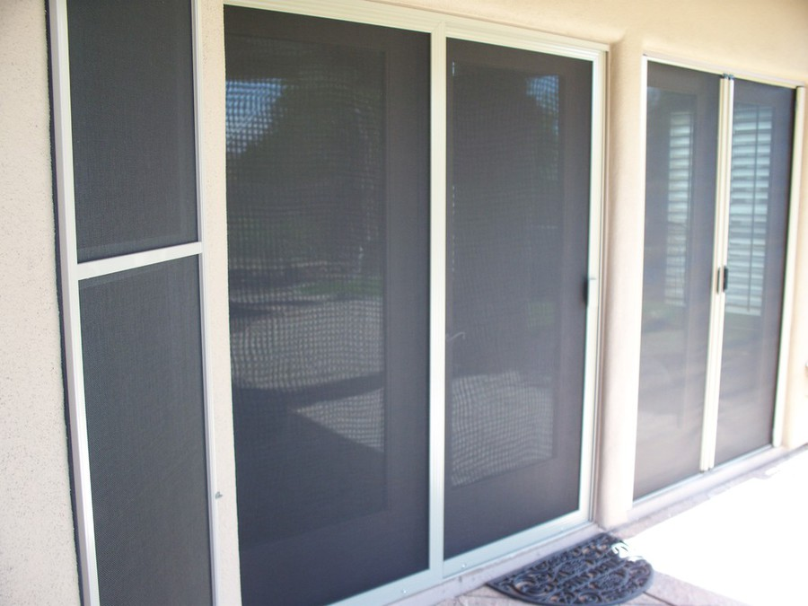 Superior Sliding Patio Screen Door With Fixed Panel